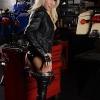 Hot Victoria posing as a seductive mechanic